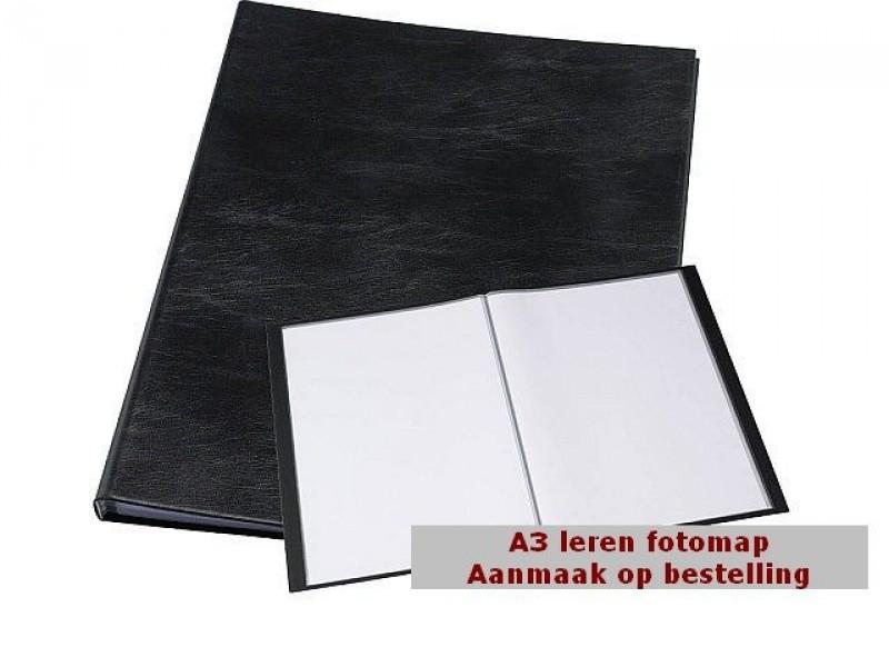 Leren Presentatiemap-lookbook A3