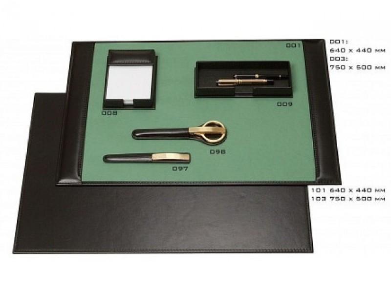 Leren lederen bureau accessoires buro onderleggers - Accessoire bureau luxe ...